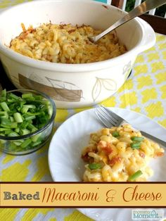 Baked macaroni and cheese using local Bothwell cheese is a favorite in our home