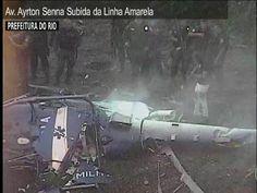 APÓS QUEDA DE HELICÓPTERO, POLICIA FAZ OPERAÇÃO NA CIDADE DE DEUS, RIO