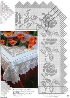 Kira scheme crochet: Scheme crochet no. Crochet Lace Edging, Crochet Borders, Love Crochet, Crochet Doilies, Easy Crochet, Crochet Designs, Crochet Patterns, Wiggly Crochet, Filet Crochet Charts