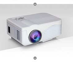 Bemaxy@ X9 Portable Digital HD LED Mini Video Projector Smart Home Theate Support Wifi Connection for Smart Phones and Computer Screens Display 3D Version(white)