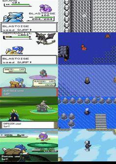 Evolution of Surfing #Pokemon via reddit user Samam