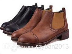 $34 2015 New Women Autumn Martin Boots Faux Leather Plateform Ankle Boots Casual Ladies Shoes Australian Boots From Rayban2013, $28.33 | Dhgate.Com