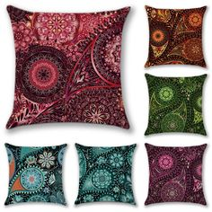 Black Artscope Set of 4 Soft Cotton Linen Cushion Covers Simple Geometric Style Throw Pillow Covers Pillowcase for Sofa Car Home Decor 45 x 45 cm