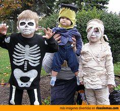 Disfraces para niños para Halloween.