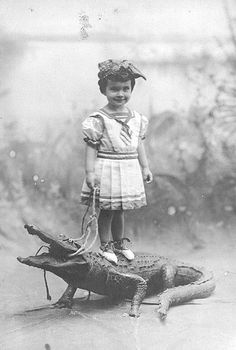 Mother thought I could bring in extra income entertaining people.Alligator riding for tots was a sport that never really took off.