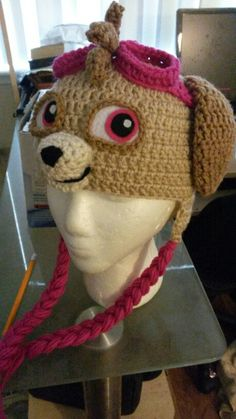 Paw Patrol pup Skye hat For the pattern, visit my ravelry shop at  http://www.ravelry.com/stores/graci-crawley-designs