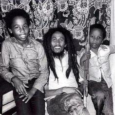 Ziggy, Bob and Stephen Marley. Zimbabwe 1980