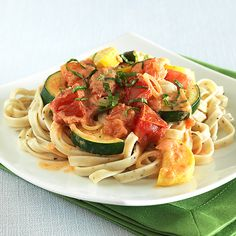 Zucchini, Tomato & Fresh Herb noodles... I use the miracle noodle... mmmm