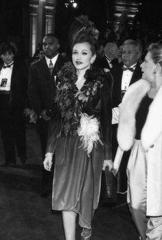"Madonna at the premier of her film ""Evita"", 1996."