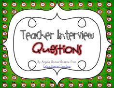Teacher Interview Questions & Teacher Blog from an Intervention Teacher! Yay!