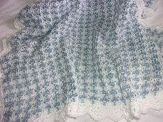 Hand Knit Tweed Pattern Baby Blanket with Hand by DarellaBaby