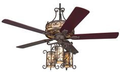 seville light kit ceiling fan spanish influenced rustic ceiling fan ...