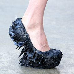 Magnets were used to create these spiky shoes.