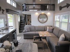Kropf is pleased to announce the latest 2018 models. Here is a sampling of the new designs and floorplans that are now available. Please contact your local Kropf dealer to learn more. Tiny House Big Living, Shed To Tiny House, Long House, Best Tiny House, Tiny House Cabin, Tiny House Design, Small Living, Tiny Houses, Mobile Home Floor Plans