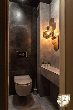 Small Toilet Room, Small Bathroom, Bad Inspiration, Bathroom Inspiration, Modern Bathroom Decor, Bathroom Interior Design, Ideas Baños, Bathroom Partitions, Modern Rustic Homes