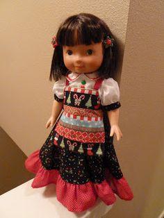 Sara's Christmas girl with apron