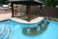 Pool with sunken bar