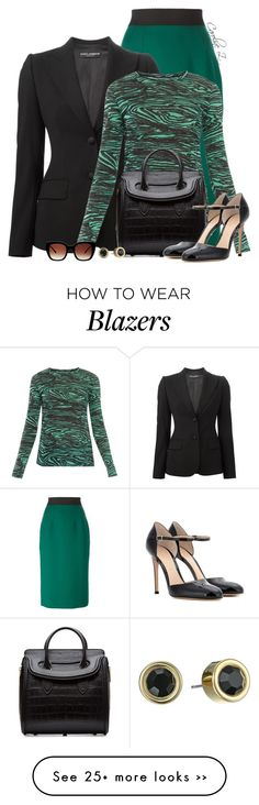 """Let's Get Down to Business"" by carolinez1 on Polyvore featuring Dolce&Gabbana, Proenza Schouler, Alexander McQueen, Gianvito Rossi, Marc by Marc Jacobs and Thierry Lasry"