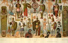 Greece Racinet, Auguste. Costume Historique. Paris: Firmin-Didot et Cie, 1888. Margaret M. Bridwell Art Library, University of Louisville.