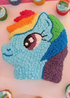 My Little Pony Birthday Party cake!  See more party planning ideas at CatchMyParty.com!