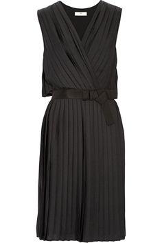 DAY Birger et MikkelsenPleated washed-satin dress