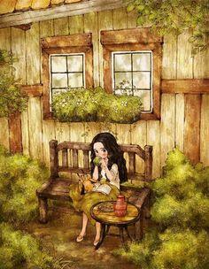 La chica en el Bosque por Aeppol.