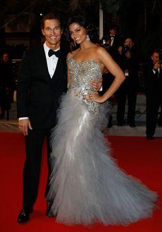 Camilla Alves in Marchesa and Matthew McConaughey, Cannes Film Festival, 5/26/12, Photo: Getty Marchesa Spring 2012