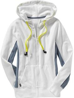 Women's Techno Hoodies with HB3 Technology™ - Drawstring cord with ear buds...the jacket has a smart-phone/MP3 plug-in cord runs from the pocket, the trim to the drawstring which has machine washable headphones. AWESOME