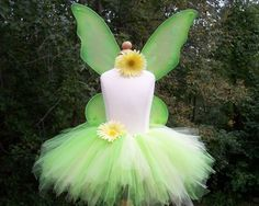 DIY Tinkerbell Fairy Tutu Costume Set for by baileysblossoms, $12.50
