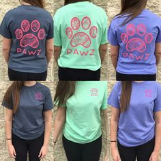 Awe i love these pawz shirts.   I really want one of these!!