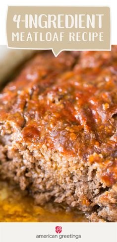 There's something about comfort food and a simple greeting card from Target that make for a thoughtful and delicious gift idea. If you're looking to help out a new mom, surprise a friend, or show your neighbor you care, check out this recipe for 4-Ingredient Meatloaf!