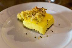 Duck Egg Custard Square, Honey Sponge, Honeycomb