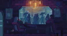 Pixel Art – Les jolis GIFs animés de Kirokaze (image)