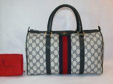 Auth Vintage Gucci Boston Bag