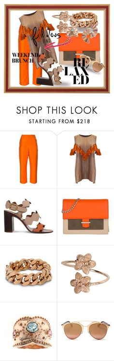 """""""Fabulous Finds for a Weekend Brunch"""" by kareng-357 ❤ liked on Polyvore featuring Isa Arfen, Mochi, Chloé, HUGO, STELLA McCARTNEY, Dallas Prince, Christian Dior and CA&LOU"""