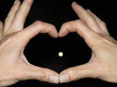 Human Hand Black Background Space Fingernail Human Finger Close-up Heart Shape Moon Full Moon Astronomy