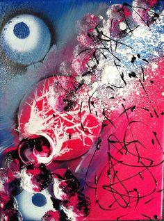 Tableau abstrait acrylique Bea Quaker Créations http://www.alittlemarket.com/boutique/bea_quaker_creations-1602545.html