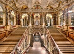 The magnificent Kunsthistorisches Museum in Vienna. The second image on the top row shows the opening of the Museum in 1891 by Emperor Franz Josef I. Van Gogh Museum, Art Museum, Auckland Nova Zelandia, Vienna Museum, Kunsthistorisches Museum Wien, Le Palace, Palaces, Second Empire, Celebrity Travel