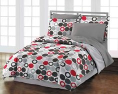 Reinforcements 100% Cotton Comforter Sham Bedskirt Set, Gray Red by Style Lounge. Save 17 Off!. $49.99. Comforter features multi-colored geometric circles on a white ground and reverses to solid gray. Machine washable. Twin/Twin XL Set includes: comforter, one standard sham, and bedskirt. Reinforcements Twin/Twin XL Comforter Set - Multi (NEW in Original Packaging)Give your bedroom a modern makeover with this contemporary Reinforcements comforter set! The comforter and sham fe...