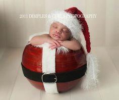 Newborn Photography  Baby Picture (Diy Christmas Photoshoot)