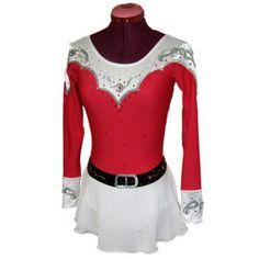 world figure skate wear custom design western skating dress 1216