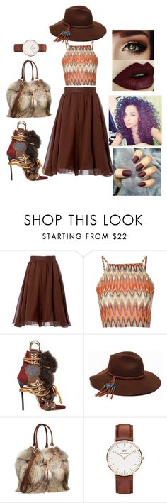"""mia young"" by creative-doll ❤ liked on Polyvore featuring Carolina Herrera, Glamorous, Dsquared2, ále by Alessandra and Daniel Wellington"
