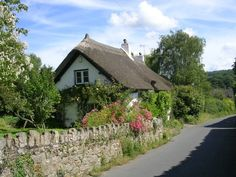 Cottage in Dartmouth, Devon, England (by Micaela Morris) Cottage Living, Cozy Cottage, Cottage Homes, Cottage Style, Storybook Homes, Storybook Cottage, Little Cottages, Cabins And Cottages, Devon England