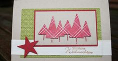 """Den Kartensketch habe ich mit einer neuen Memory Box-Stanze und dem sehr schönen Weihnachtsdesignerpapier """"Stilmix"""" von Stampin´Up! gesta..."""