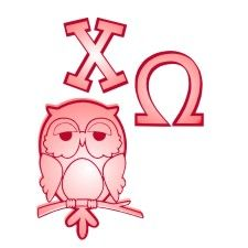 Chi Omega with owl