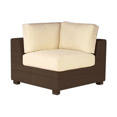 Woodard Montecito Corner Sectional Unit Patio Chair with Cushions Color: Sunbrella Jubilee Tidewater