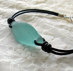 Sea Glass Jewelry - blue bracelet by Ecstasea, via Flickr