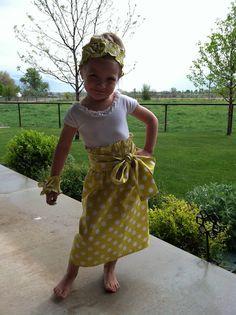 Fancy Meeting Ewe: Little Girls Maxi Skirts, Tutorial on it's way!