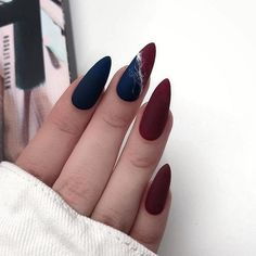 and Hottest Matte Nail Art Designs Ideas 2019 elegant almond matte nails design ideas; almond nails The post and Hottest Matte Nail Art Designs Ideas 2019 & Style appeared first on Fall nails . Matte Almond Nails, Short Almond Nails, Matte Nail Art, Cute Acrylic Nails, Almond Nail Art, Nail Art Blue, Fall Almond Nails, Almond Nails Designs, Red Nail Designs