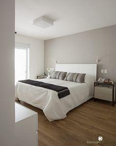 Modern, simple & chic apt in Taiwan. Modern Studio Apartment Ideas, Dream Bedroom, Master Bedroom, Bedroom Decorating Tips, Home Lighting Design, Bedroom Arrangement, Hotel Room Design, New Home Designs, Floor Design
